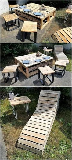 repurposed wood pallet outdoor furniture