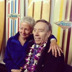 One of the most special moments in a night full of special moments. Linda Benson and Hobie Alter. Legends. The Surfing Heritage made a flawl...