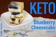 Keto Blueberry Cheesecake Squares - using the stick blender (For variation-leave out blueberries, add food-grade lavendar, lemon and lemon zest)