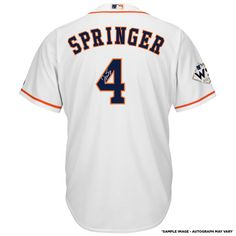8952acc5a George Springer Houston Astros Fanatics Authentic 2017 MLB World Series  Champions Autographed Majestic World Series White Replica Jersey with 2017  WS MVP ...