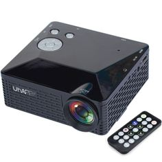 [$39.50] Uhappy U18 60LM Home Theater 320*240 Mini Projector with Remote Control, Support HDMI + USB + SD + AV + VGA(Black)