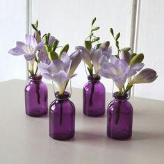 Diddy violet vases