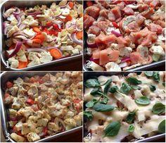lindastuhaug - lidenskap for sunn mat og trening A Food, Good Food, Food And Drink, Salsa Verde, Pulled Pork, Cobb Salad, Crockpot, Food Porn, Cooking Recipes