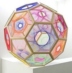 Nike Savvas Sliding Ladder: Truncated Icosahedron 2010. I love this - reminds me of a spirograph drawing...