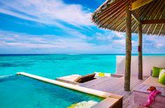 Wasservilla mit privatem Pool und einem Ausblick bis zum Horizont - Six Senses Laamu