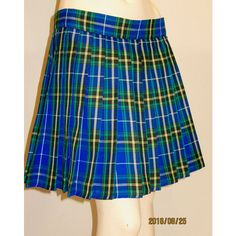 Nova Scotia Plaid Pleated Skirt~Blue Yellow Black Heavy Pleats Plaid... ($24) ❤ liked on Polyvore featuring skirts, grey, women's clothing, long pleated skirt, yellow plaid skirt, long skirts, blue pleated skirt and long plaid skirt