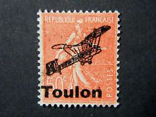 Local Frankreich WW II Occupation overprint Toulon used