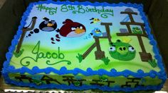 angry birds sheet cake | Flickr - Photo Sharing!