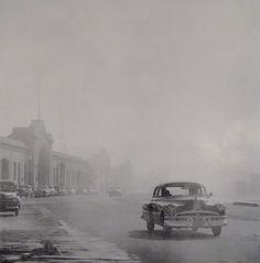 San Francisco Embarcadero Fog, 1947 by Fred Lyon