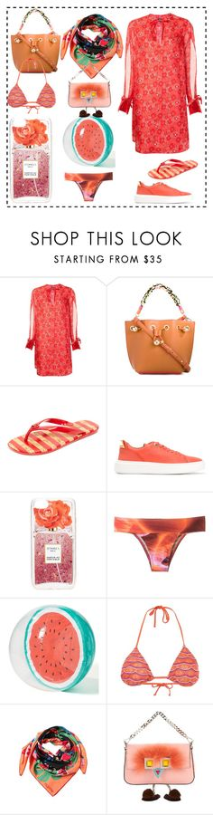 """""""think fashion"""" by denisee-denisee ❤ liked on Polyvore featuring Creatures of the Wind, Sophia Webster, MICHAEL Michael Kors, BUSCEMI, Iphoria, Lygia & Nanny, Sunnylife, Cecilia Pradomurion, Valentino and Fendi"""