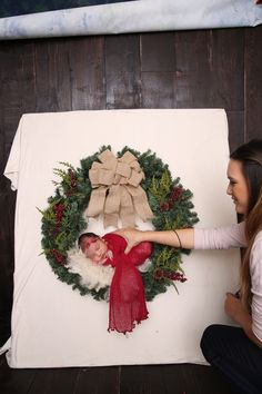 Newborn Christmas backdr