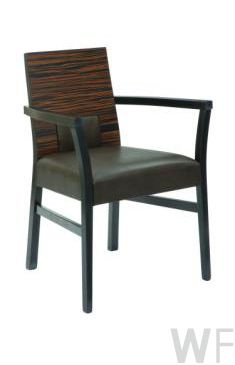 Zulu - wooden frame dining chair/ armchair with upholstered seat available in a variety of colours