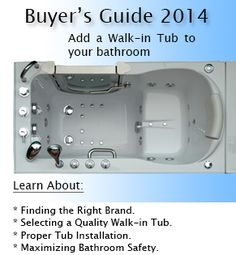 Are you considering a walk in bathtub but concerned about the cost? Check out our walk in tub price guide here! Walk In Tub Shower, Bathtub Shower Combo, Walk In Bathtub, Handicap Bathtub, Douche Walk In, Bathroom Safety, Walk In Shower Designs, Bathtubs, Bath