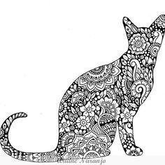 #doodle #doodleart #zentangle #zendoodle #cat