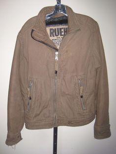 RUEHL NYC size S army Military style unisex Zip Front Jacket lined shaggy fleece #Ruehl #BasicJacket