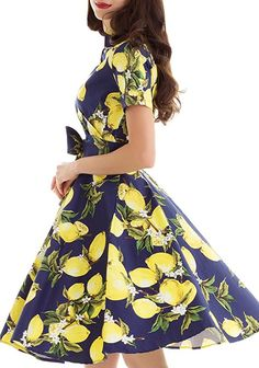 Vintage loves retro Vintage dresses for women Prom Party Swing Dress at Amazon Women's Clothing store: