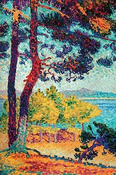 Using Seurat's rules - we have a vibrant array of color strokes making the painting inviting.