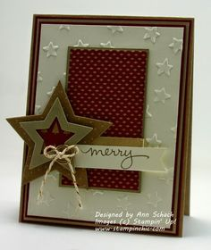 The Stampin' Schach: SU Endless Wishes - Stars Framelits - Lucky Stars EF - Under the Tree DSP