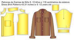 Moldes de camisa de vestir tallas infantiles | Moldes de Ropa y Sistemas de Diseño y Patronaje