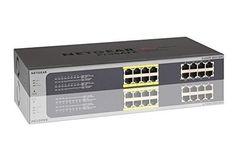 NETGEAR JGS516PE 16-Port Gigabit Rackmount PoE Smart Managed Plus Switch   8-Port 85w Power-over-Ethernet   ProSAFE Lifetime Protection