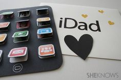 iDad craft -- father's day, birthday...doesn't have to be apple product :P