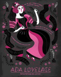 Women in Science: Ada Lovelace by Rachelignotofsky on Etsy