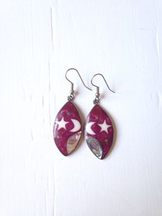 A personal favorite from my Etsy shop https://www.etsy.com/listing/254483876/10-off-sale-vintage-pink-galaxy-earrings