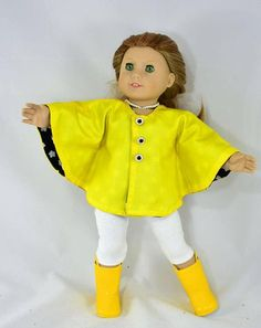 Classic Rain Jacket PDF sewing pattern for 18 inch Doll like