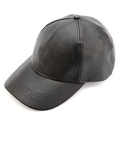 Charlotte Russe Faux Leather Baseball Cap ($10)