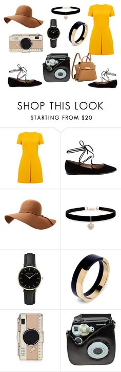 """Untitled #387"" by luvuallthetime ❤ liked on Polyvore featuring Warehouse, Gianvito Rossi, Betsey Johnson, ROSEFIELD, Marni, Kate Spade, Polaroid and ZAC Zac Posen"