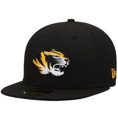 new style 76cfb 86699 Men s New Era Black Missouri Tigers Basic 59FIFTY Fitted Hat