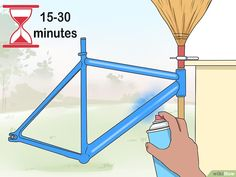 How to Paint a Bike. If the paint on a bike is old or chipped, painting over it with a few fresh coats of paint is a great way to give it a brand-new, glossy look. Fortunately, you don't have to pay a professional to retouch a bike for. Bike Mtb, Bmx Bikes, Road Bikes, Bicycle Paint Job, Bicycle Painting, Bicycle Shop, Bicycle Art, Bici Retro, Velo Design