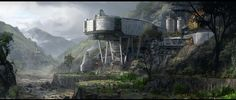 Artwork of architecturally interesting buildings and structures. Build it and they will come. Science Fiction, Base Building, Sci Fi News, Between Two Worlds, Star Wars Concept Art, Landscape Concept, Image Painting, Futuristic Art, Interesting Buildings