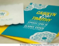 Carolyn and Timothy's Sweet and Simple Turqoise and Yellow Wedding