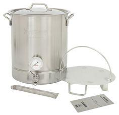 Bayou Classic 10 Gallon Stainless Steel 6 piece Brew Kettle Set Bayou Classic http://www.amazon.com/dp/B009SKU4PE/ref=cm_sw_r_pi_dp_gvoUtb1076YNW4NJ $225.98
