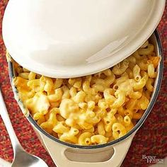 Traditionally a mac and cheese casserole recipe starts with a white sauce, which can be time consuming. Skip a step with this easy recipe, which gets its rich creaminess from evaporated milk and condensed soup.