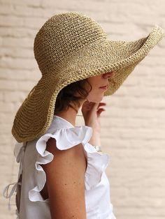 Knitted Hats, Crochet Hats, Crochet Summer Hats, Summer Hats For Women, Summer Beach Hats, Novelty Hats, Raffia Hat, Stylish Hats, Ideas