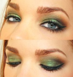 Try this with Mary Kay cream eye color in meadow grass, Emerald, Espresso, amber blaze and Sweet cream. As a Mary Kay beauty consultant I can help you, please let me know what you would like or need. www.marykay.com/KathleenJohnson  www.facebook.com/KathysDaySpa.....