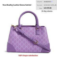 abe729e7ee4e Vera Bradley Leather Emma Satchel in Clothing