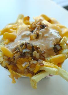 In-N-Out Burger's animal style fries! YUMM! Whenever in Vegas I have to go here, being from the east coast where there aren't any! :-(