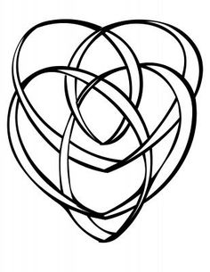 A simple rendering of the symbolic Celtic motherhood Knot.  It is said, perhaps it is a modern legend, that the Celtic motherhood knot (a symbol of intertwined hearts) represents the interconnected relationship between mother, child, and the Christ.