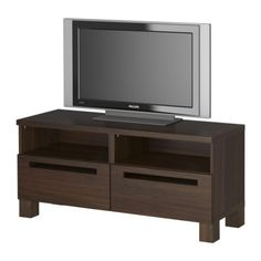 and I might as well replace the black TV stand to match the walnut colors we have elsewhere in the living room $99