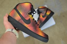 Custom Solar Flare Galaxy Air Force One Nike Sneakers