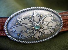 Floral Belt Buckle by flakeyfarmgirl