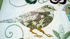 Barbara Brackman's MATERIAL CULTURE: Nicola Jarvis: Morris Birds - beautiful pictures of Michele Hill's Nicola Jarvis birds