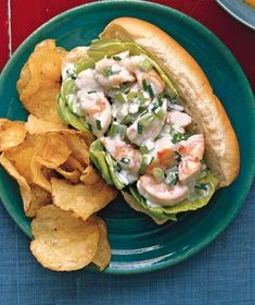 Creamy Shrimp Rolls. Recipe courtesy of Real Simple.