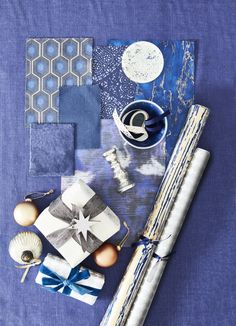 Here's why you should inject a little blue into your Christmas decor this year. Blue Christmas Decor, Christmas Decorations, Shades Of Blue, Cobalt, Decor Styles, Antique Silver, Beautiful Homes, Indigo, Sapphire