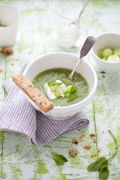 Fighting the Heat with a Honeydew, Mint and Lemon Thyme Soup - Cannelle et Vanille