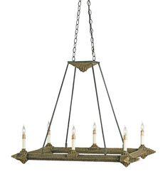 Currey & Company Hobo 6 Light Chandelier in Old Iron/Hobo Brown 9830 #lightingnewyork #lny #lighting