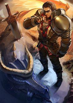 Rugged Garen has slain the dragon by yefta03.deviantart.com on @deviantART